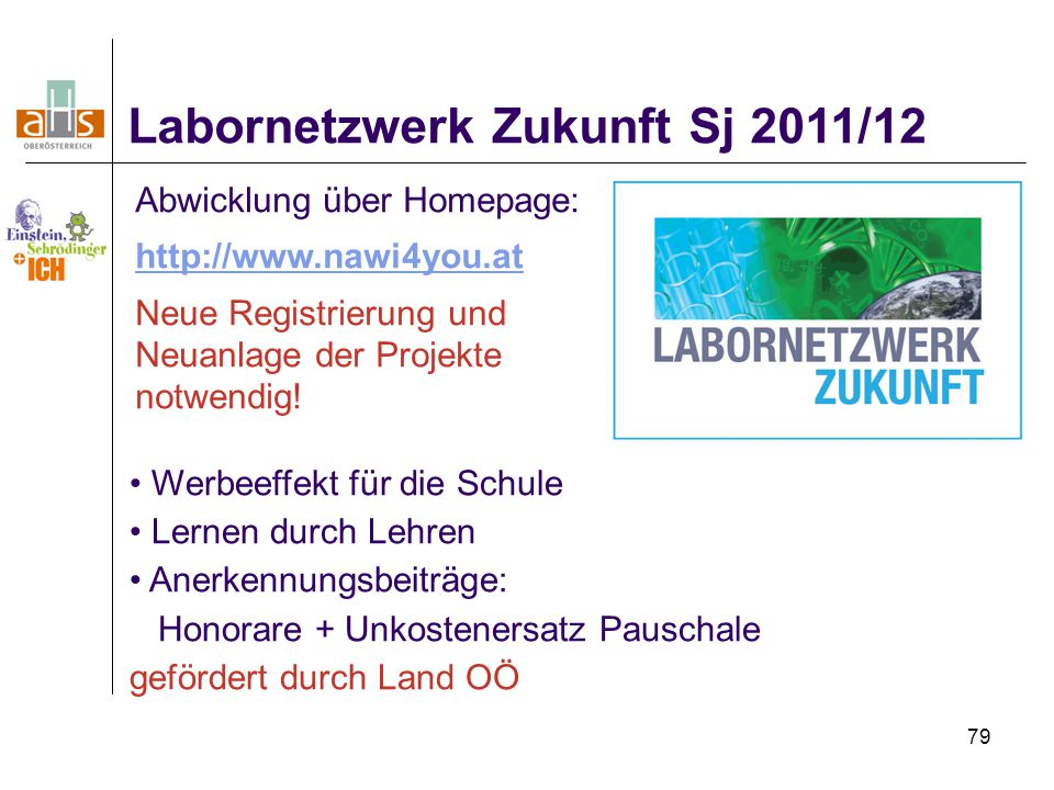 Labornetzwerk Zukunft Sj 2011/12