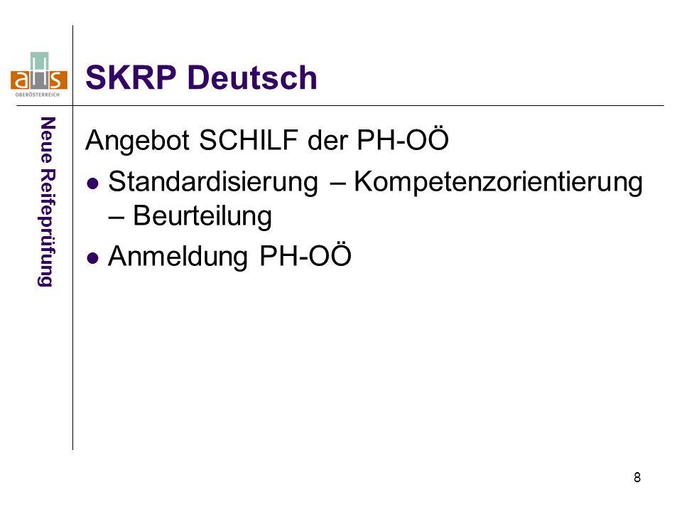 SKRP Deutsch Angebot SCHILF der PH-OÖ