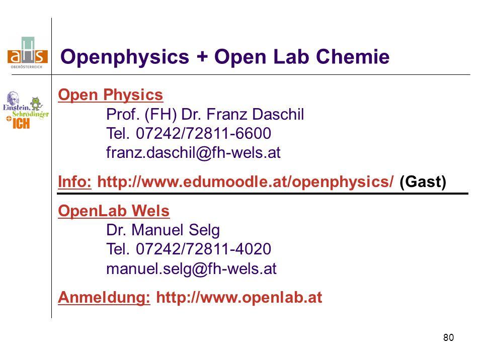 Openphysics + Open Lab Chemie