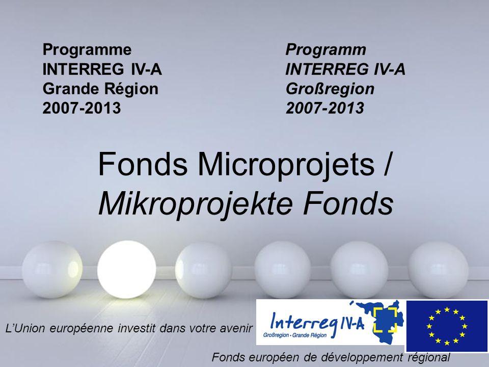 Fonds Microprojets / Mikroprojekte Fonds