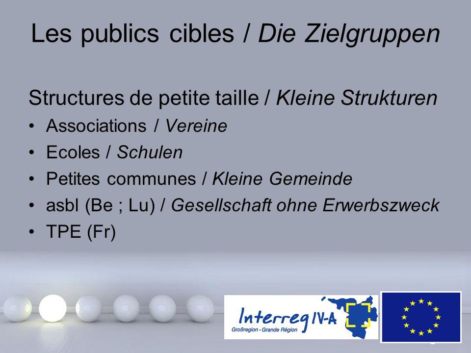 Les publics cibles / Die Zielgruppen