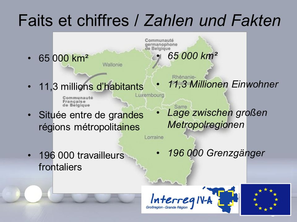 Faits et chiffres / Zahlen und Fakten