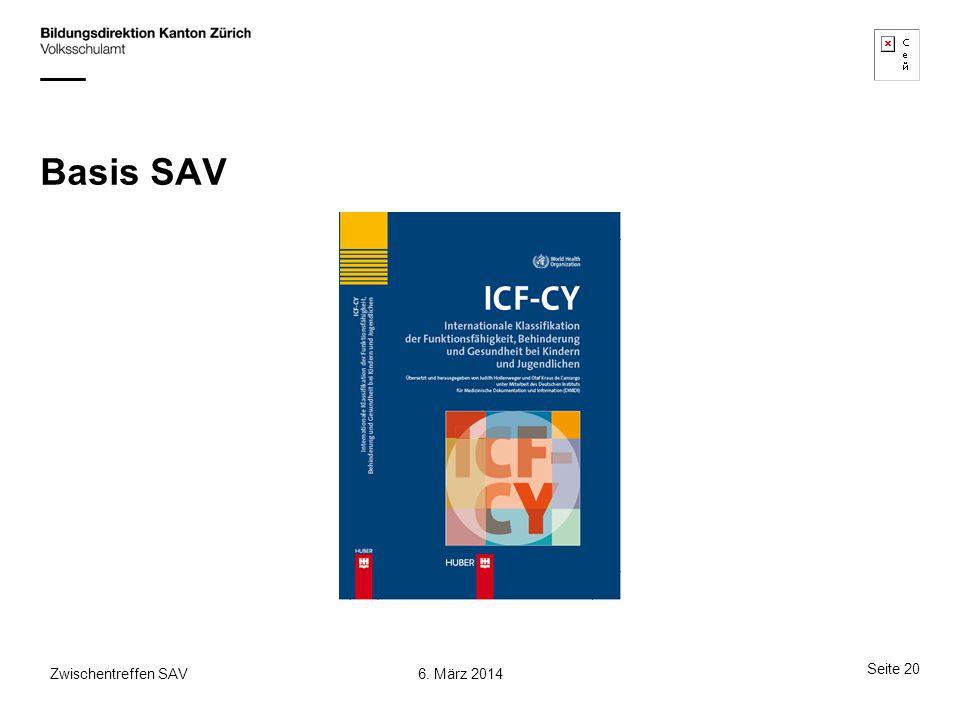 Basis SAV Zwischentreffen SAV 6. März 2014