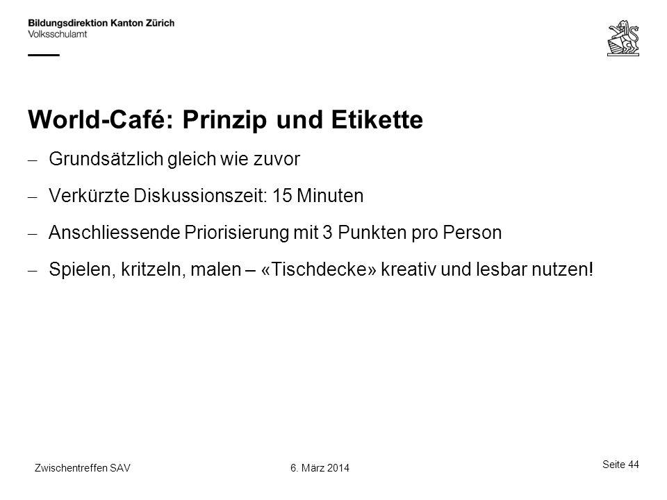 World-Café: Prinzip und Etikette