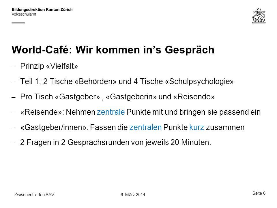 World-Café: Wir kommen in's Gespräch