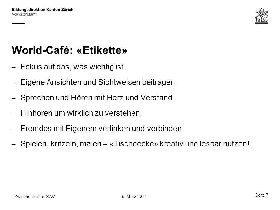 World-Café: «Etikette»
