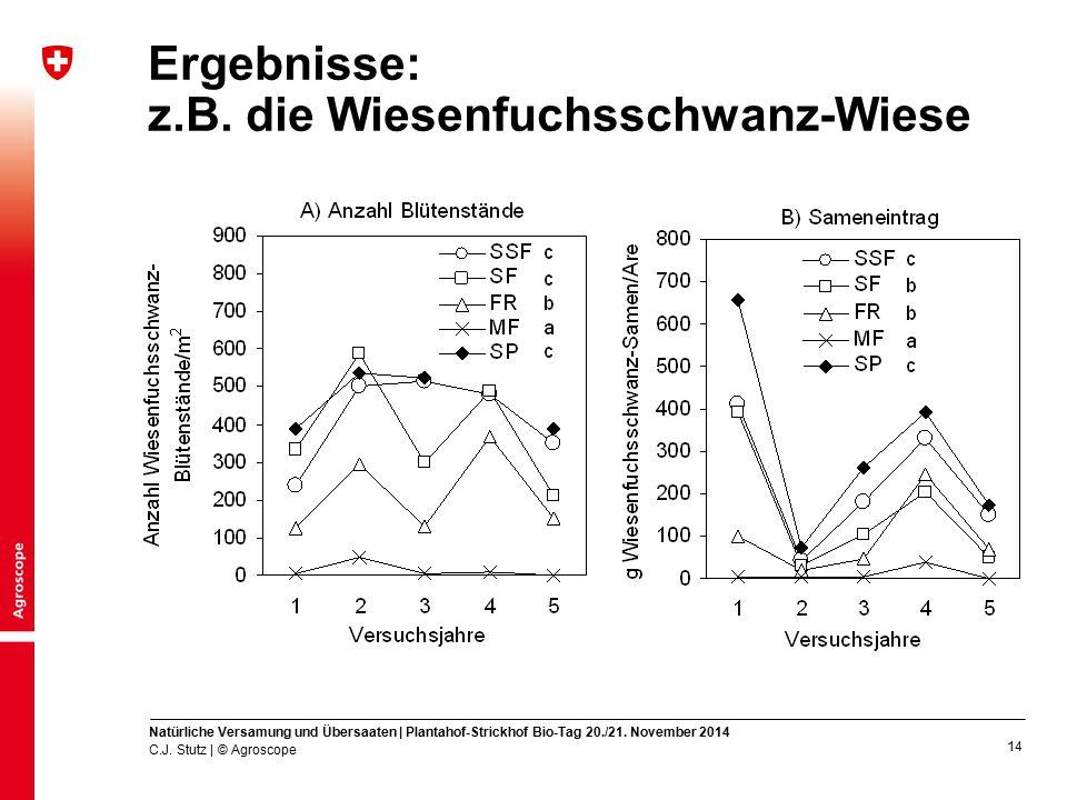 Ergebnisse: z.B. die Wiesenfuchsschwanz-Wiese