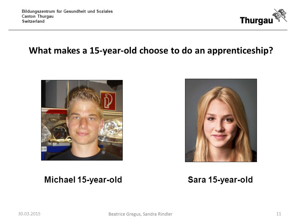 What makes a 15-year-old choose to do an apprenticeship