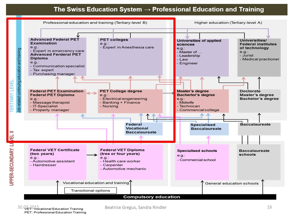 The Swiss Education System → Professional Education and Training