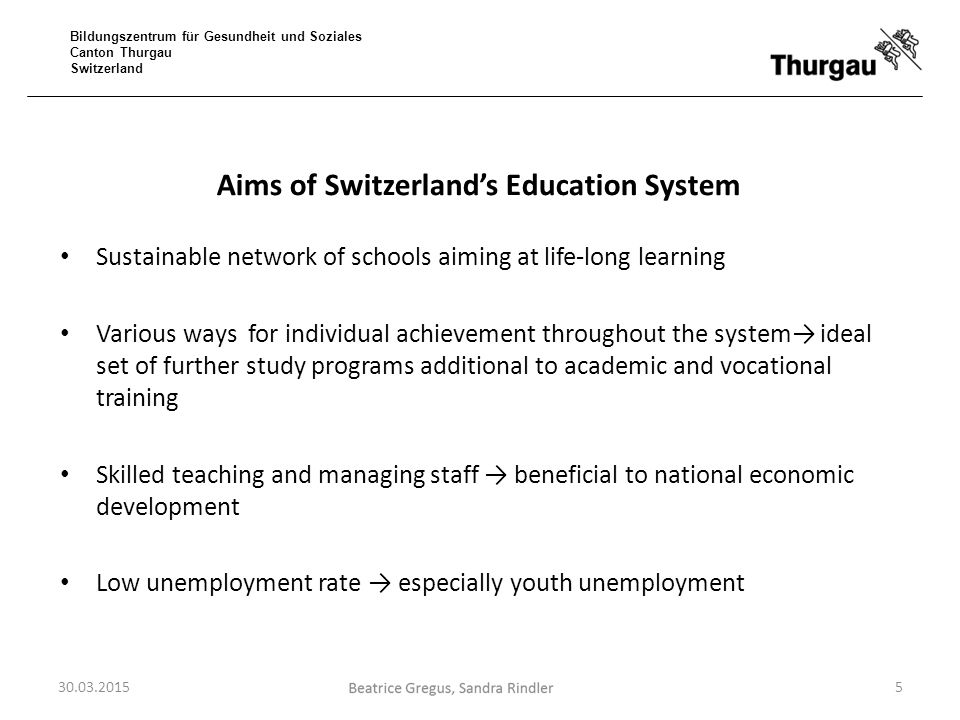 Aims of Switzerland's Education System