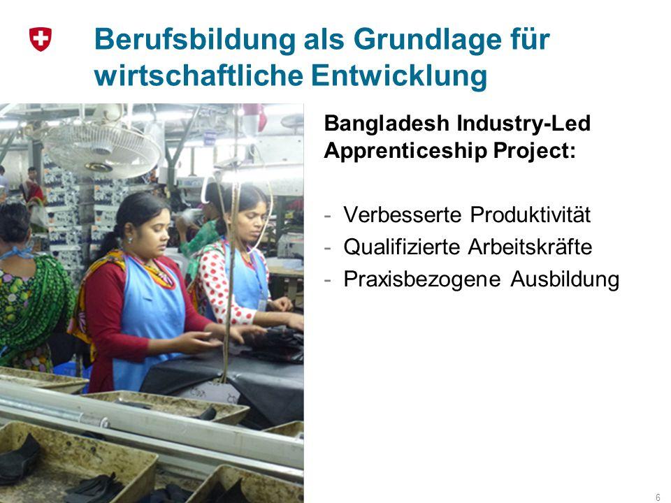 Berufsbildung als Grundlage für wirtschaftliche Entwicklung
