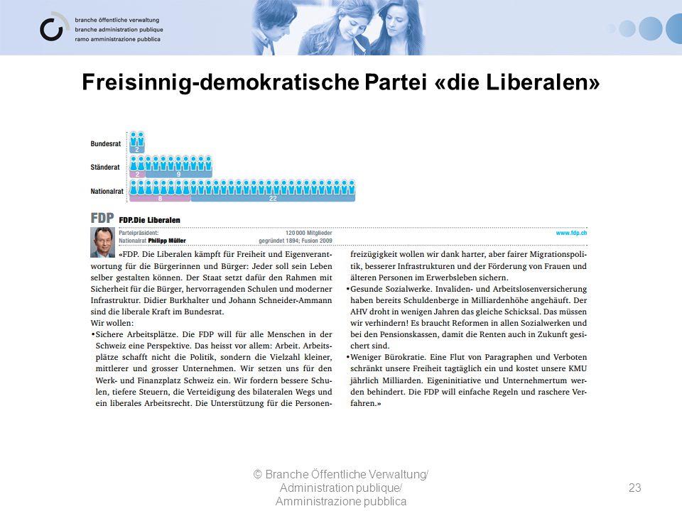 Freisinnig-demokratische Partei «die Liberalen»