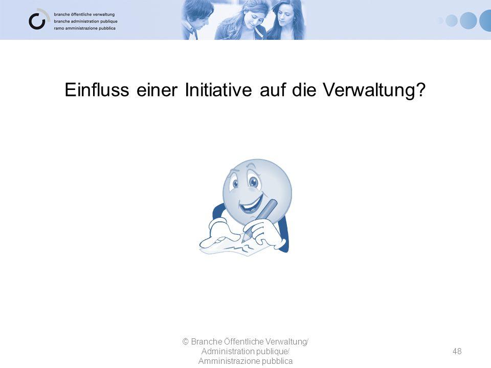 Einfluss einer Initiative auf die Verwaltung