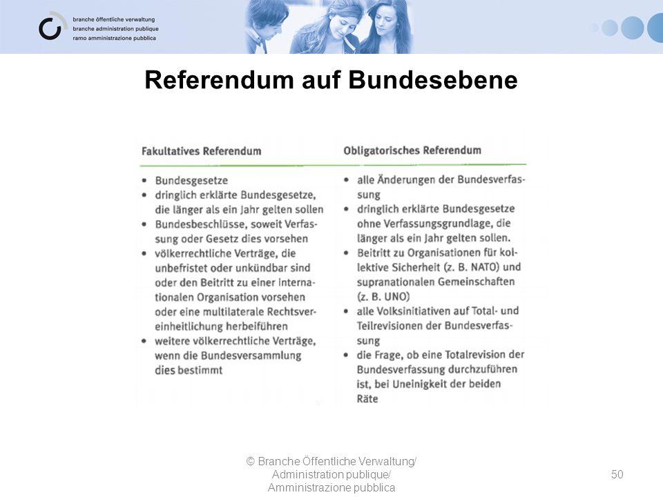 Referendum auf Bundesebene
