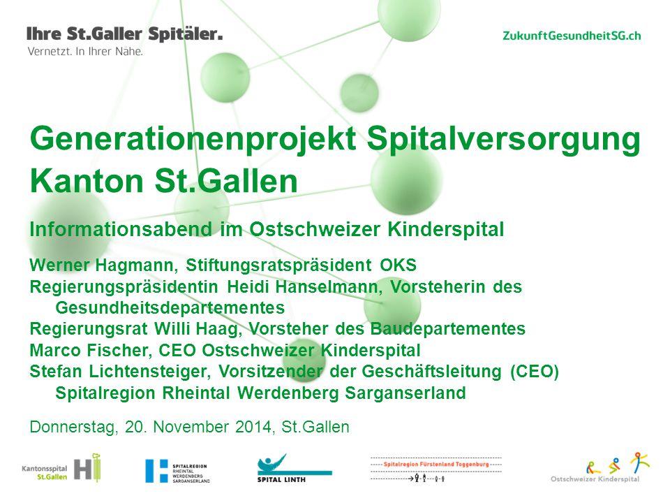 Generationenprojekt Spitalversorgung Kanton St.Gallen