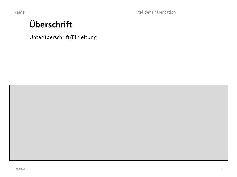 Überschrift d Unterüberschrift/Einleitung