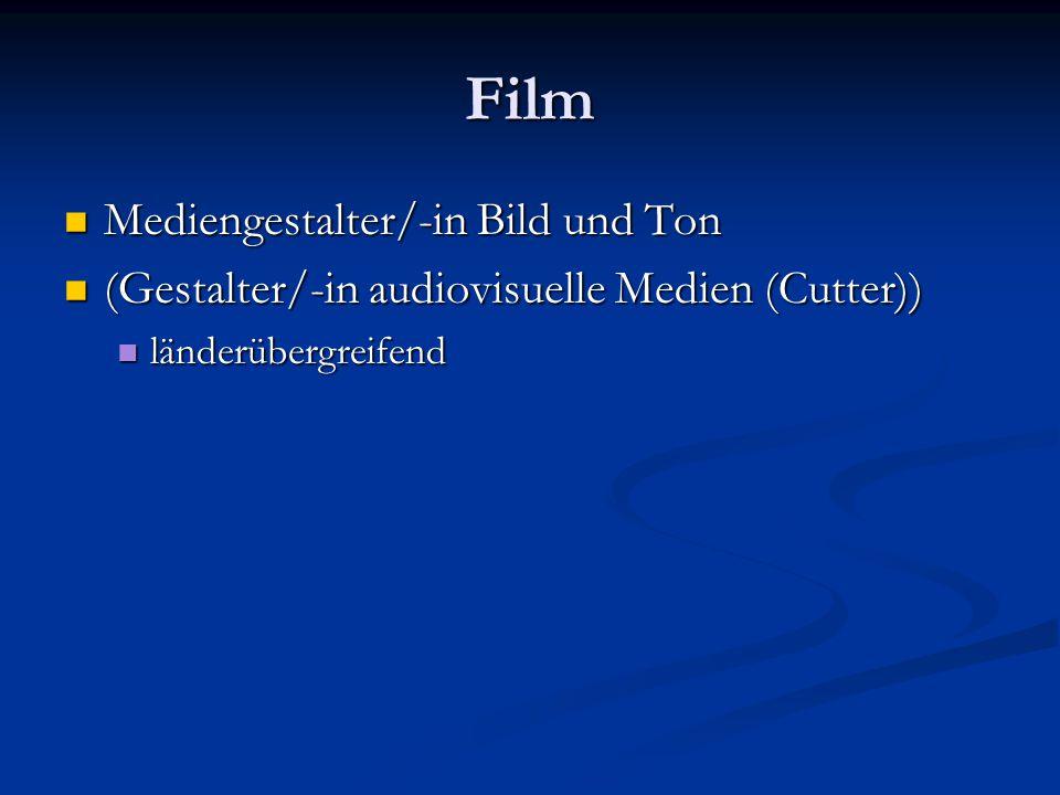 Film Mediengestalter/-in Bild und Ton