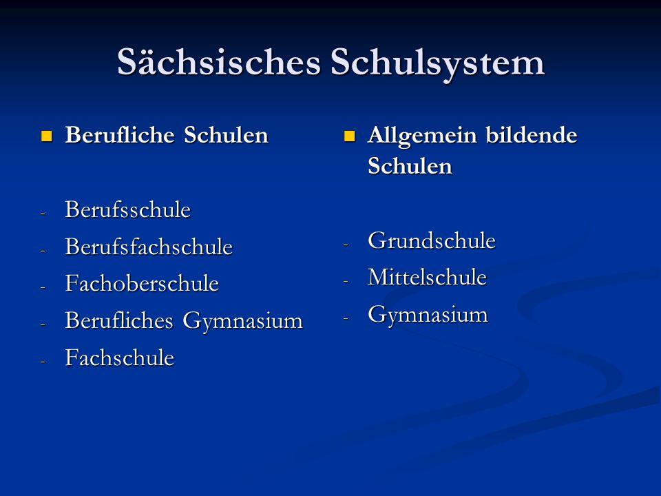 Sächsisches Schulsystem