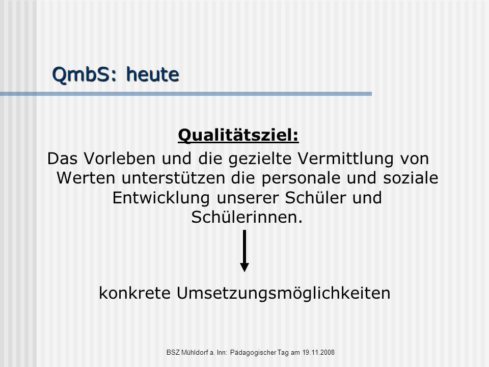 QmbS: heute Qualitätsziel: