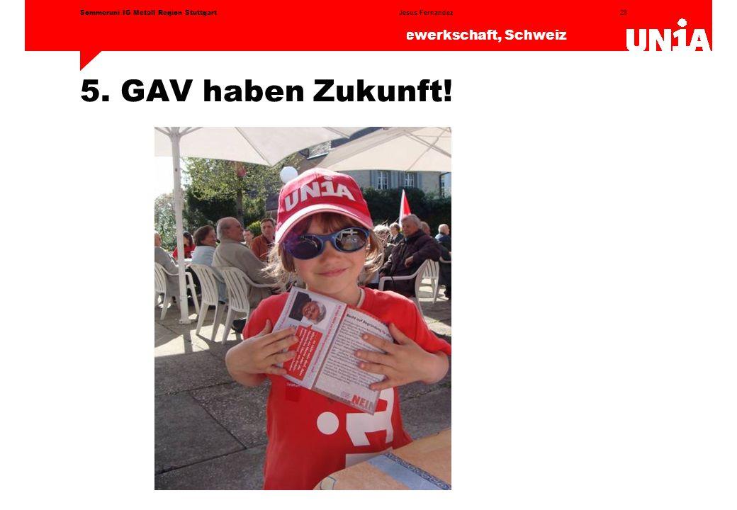5. GAV haben Zukunft! Sommeruni IG Metall Region Stuttgart