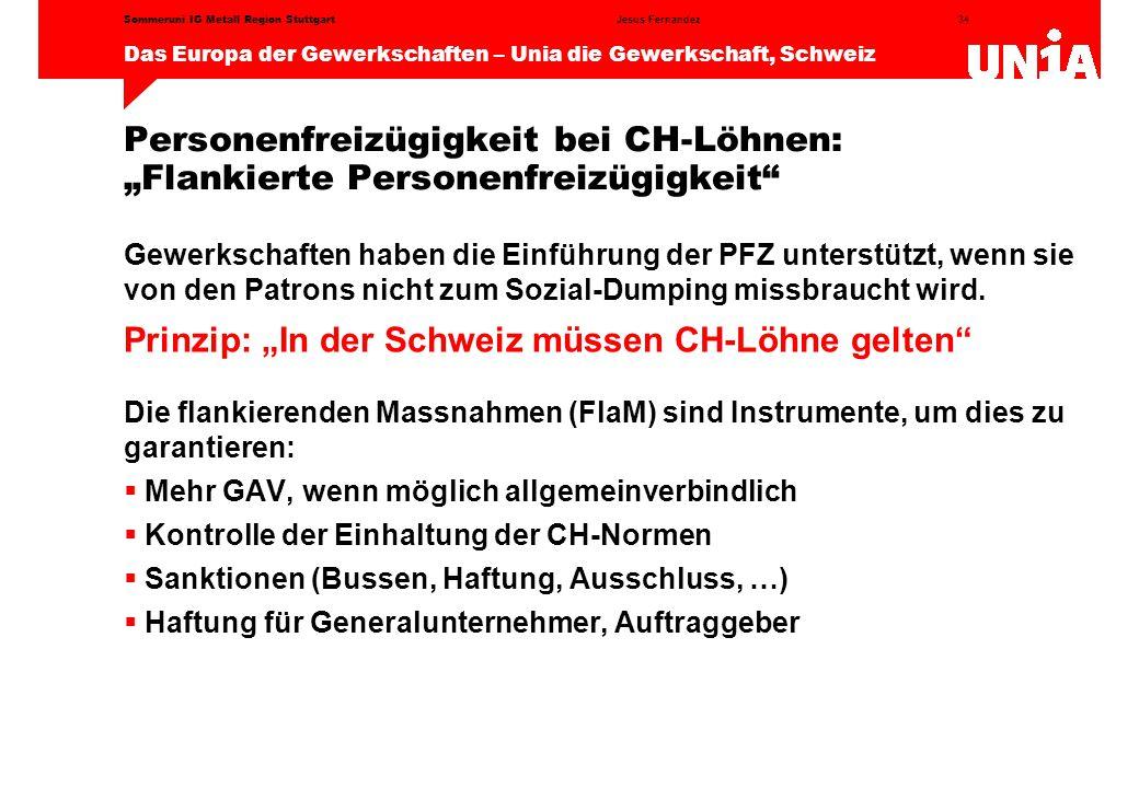 """Prinzip: """"In der Schweiz müssen CH-Löhne gelten"""