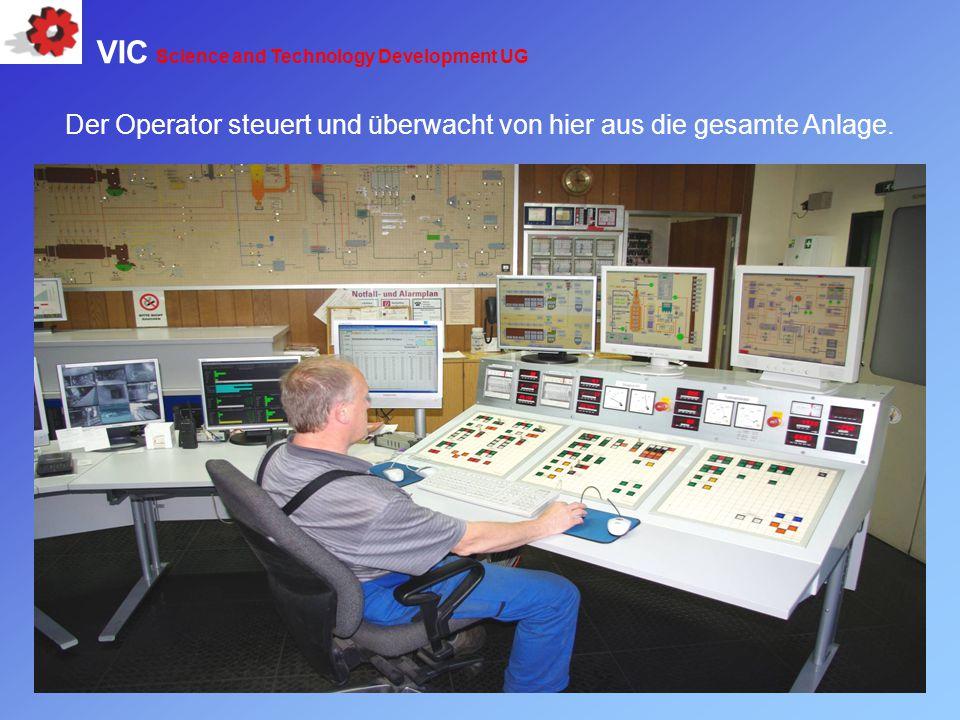 Der Operator steuert und überwacht von hier aus die gesamte Anlage.