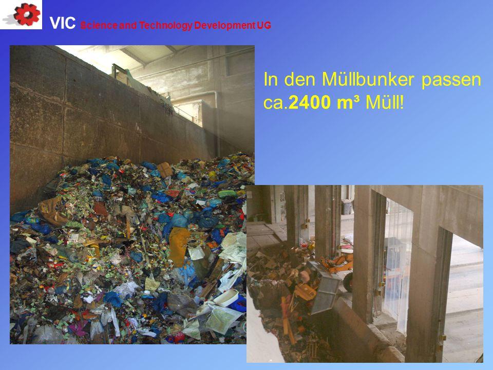 In den Müllbunker passen ca.2400 m³ Müll!
