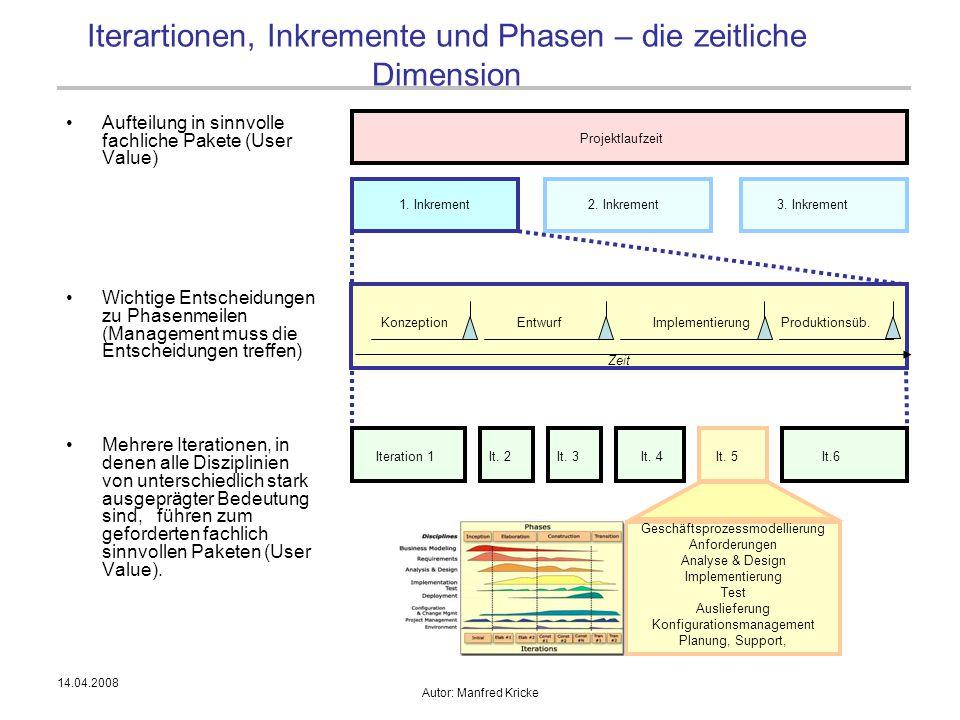 Iterartionen, Inkremente und Phasen – die zeitliche Dimension