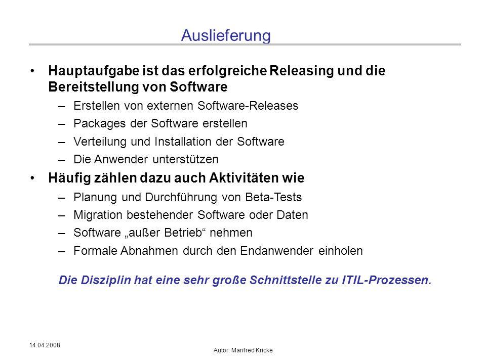 Die Disziplin hat eine sehr große Schnittstelle zu ITIL-Prozessen.