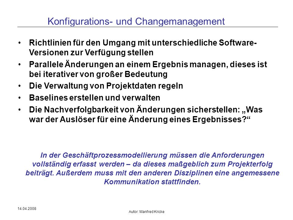 Konfigurations- und Changemanagement