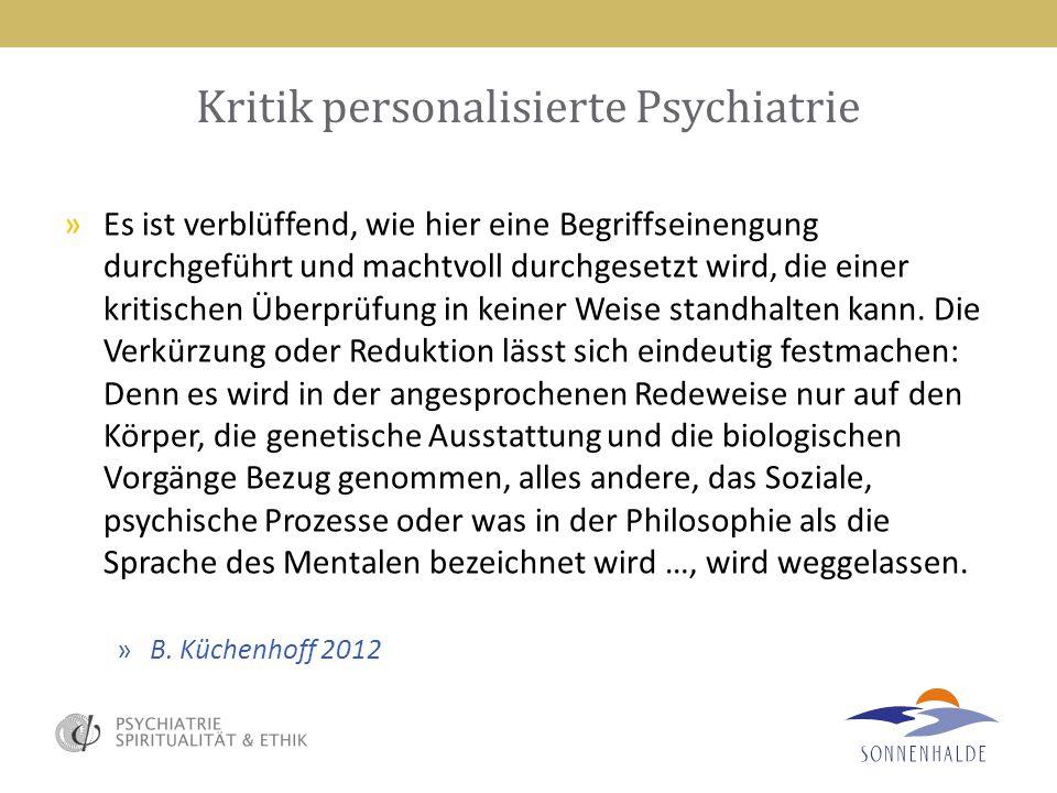 Kritik personalisierte Psychiatrie