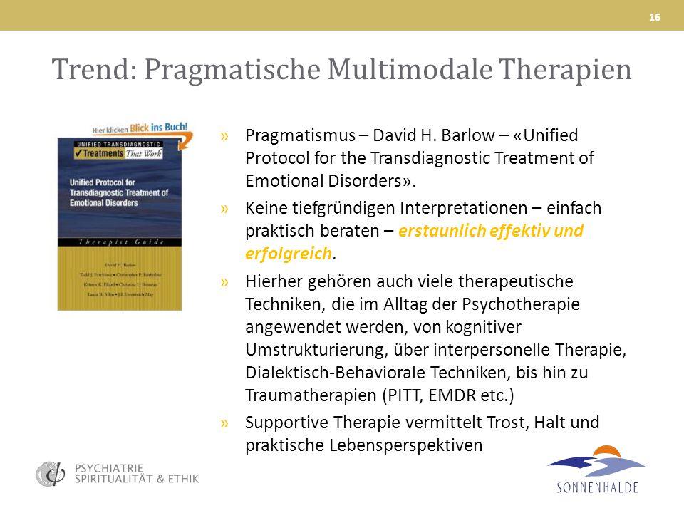 Trend: Pragmatische Multimodale Therapien