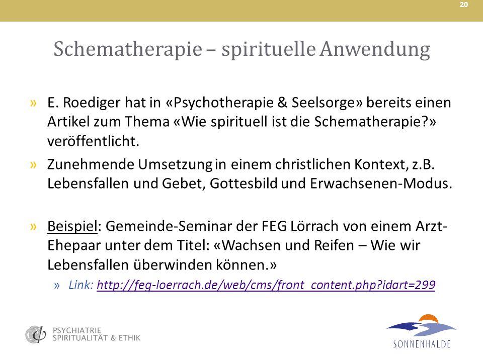 Schematherapie – spirituelle Anwendung