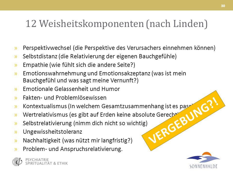 12 Weisheitskomponenten (nach Linden)