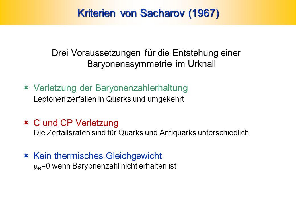 Kriterien von Sacharov (1967)