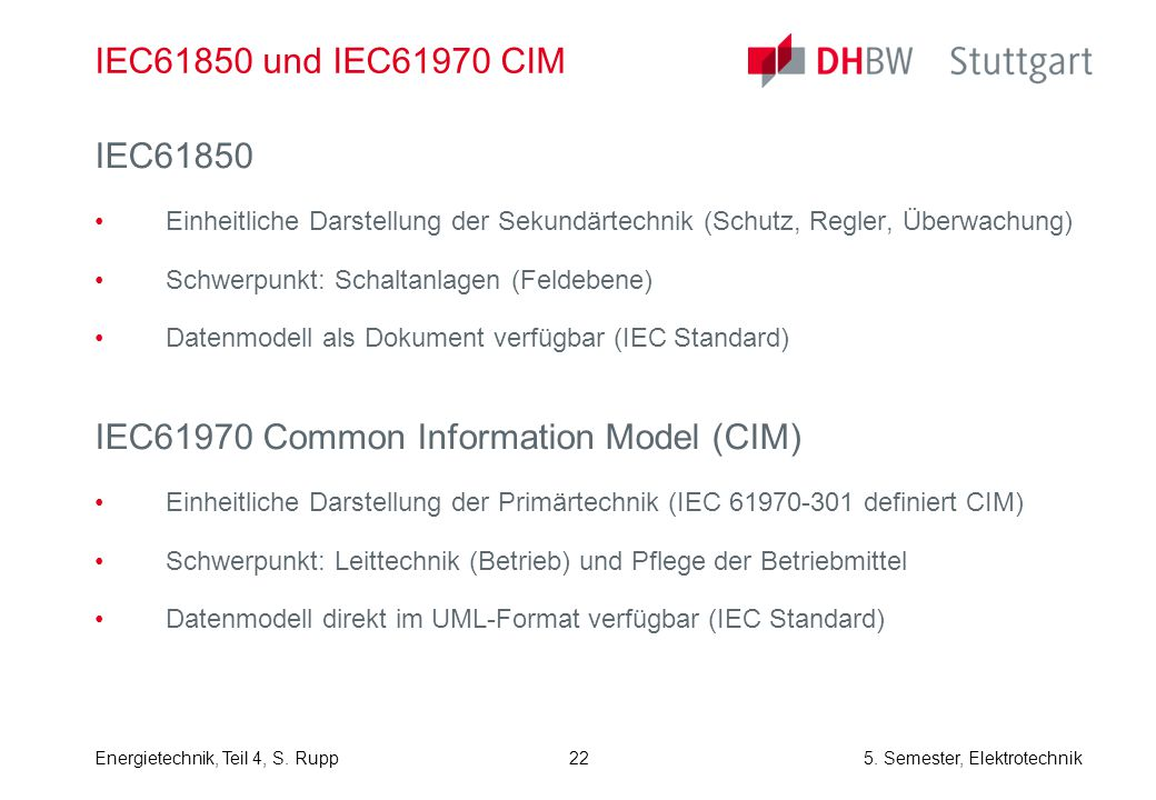 IEC61970 Common Information Model (CIM)