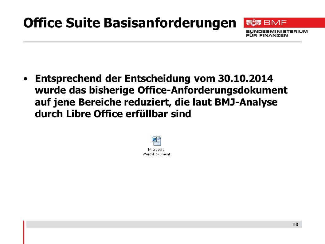Office Suite Basisanforderungen