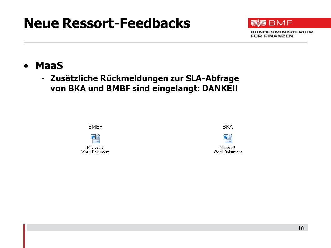 Neue Ressort-Feedbacks