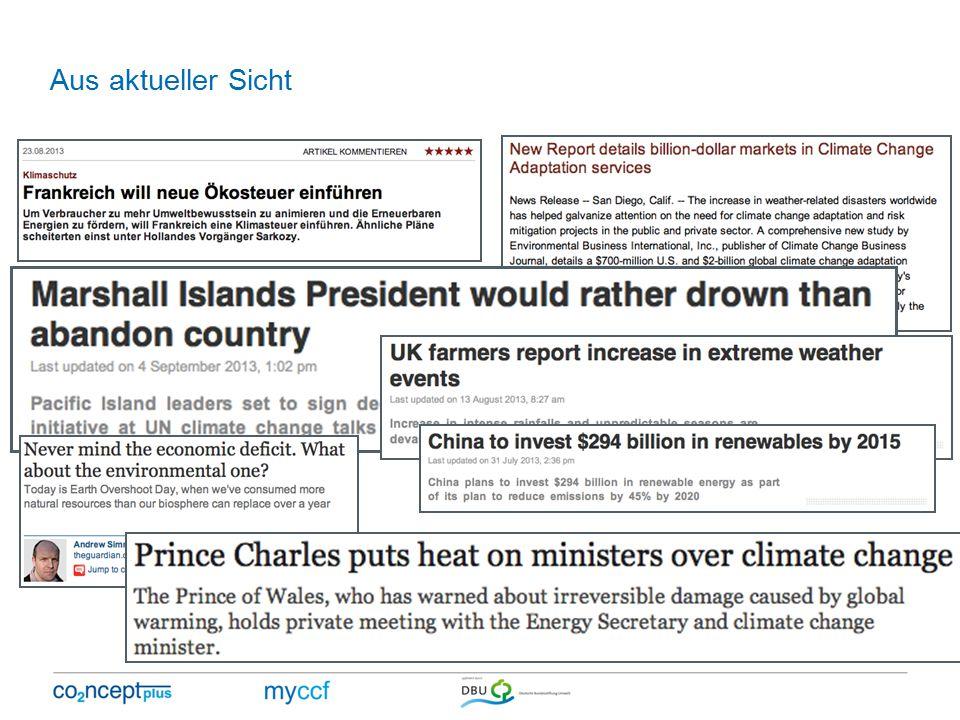 Aus aktueller Sicht Schlagzeilen August/September 2013