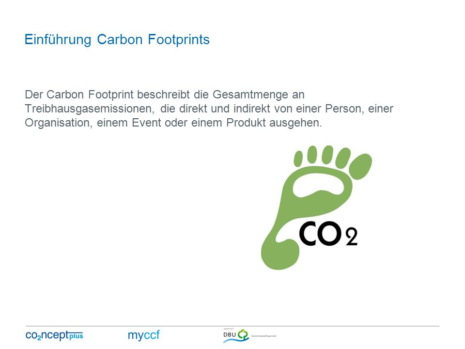 Einführung Carbon Footprints