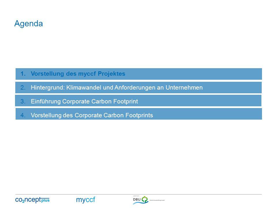 Agenda Vorstellung des myccf Projektes