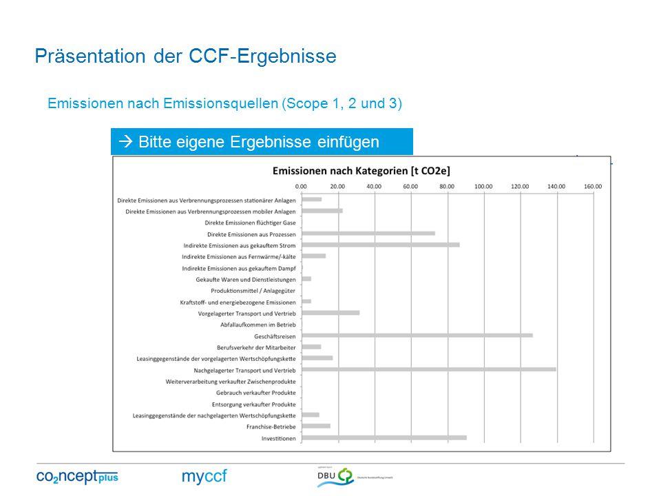 Präsentation der CCF-Ergebnisse