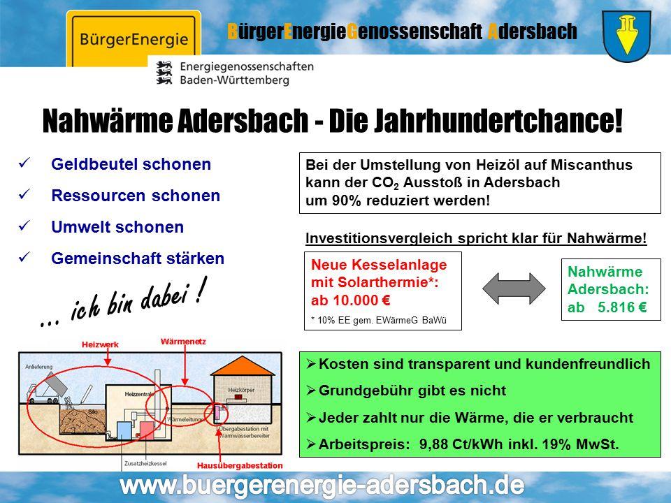 Nahwärme Adersbach - Die Jahrhundertchance!