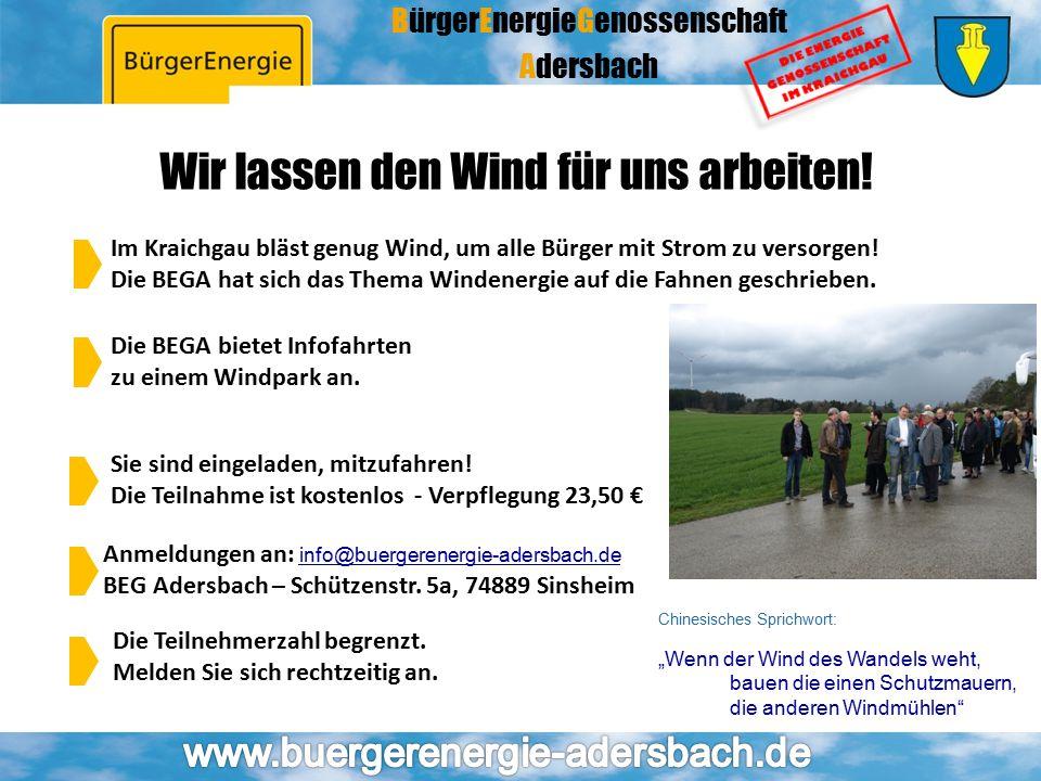 Wir lassen den Wind für uns arbeiten!