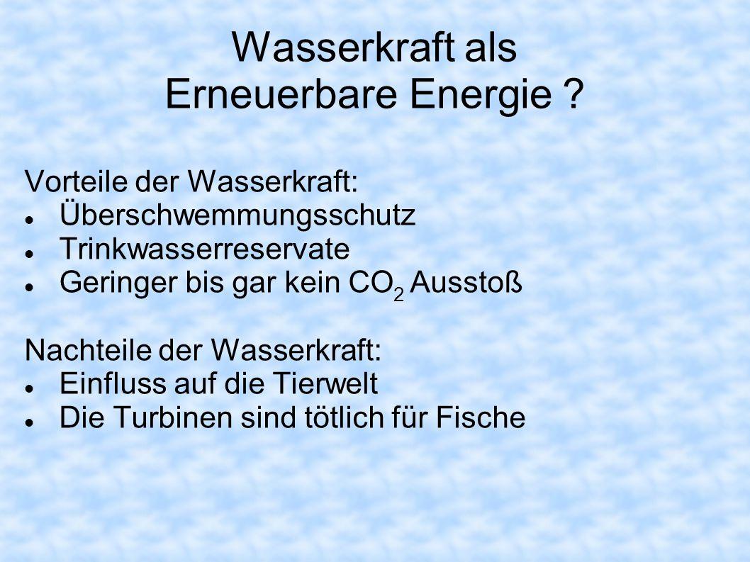 Wasserkraft als Erneuerbare Energie