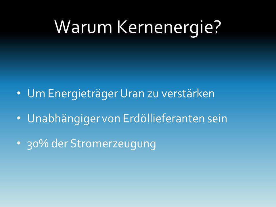 Warum Kernenergie Um Energieträger Uran zu verstärken