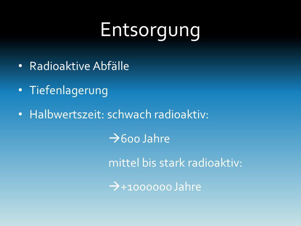 Entsorgung Radioaktive Abfälle Tiefenlagerung