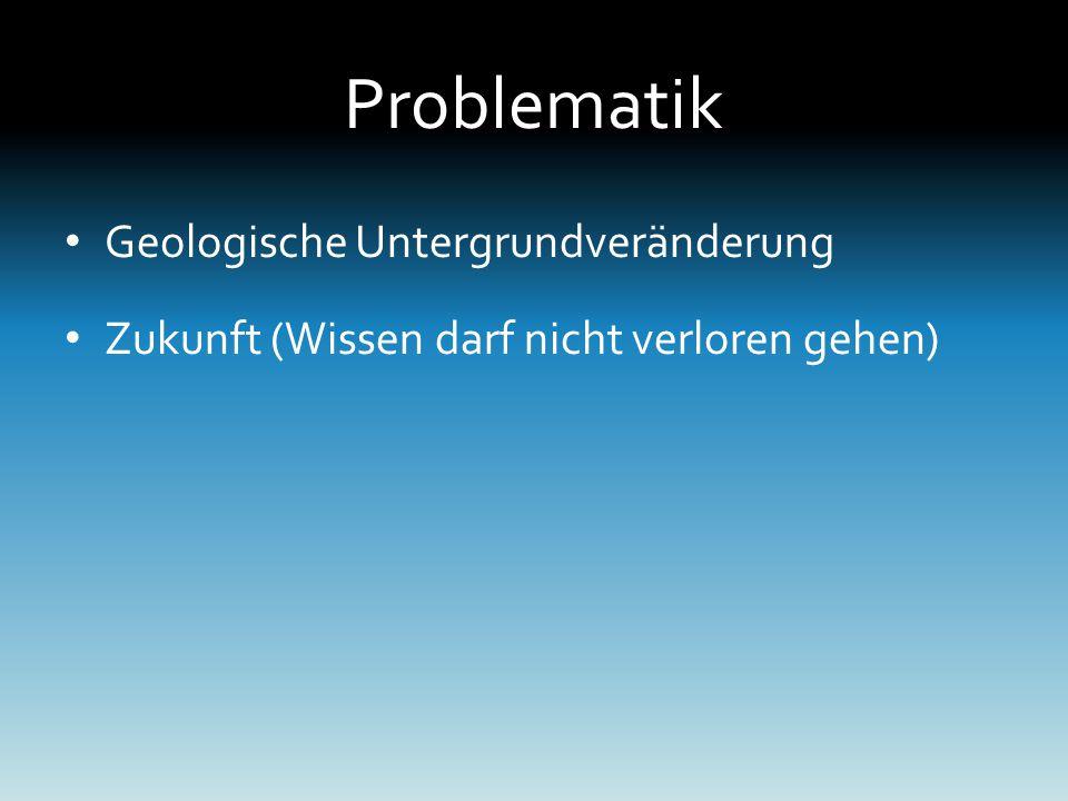 Problematik Geologische Untergrundveränderung