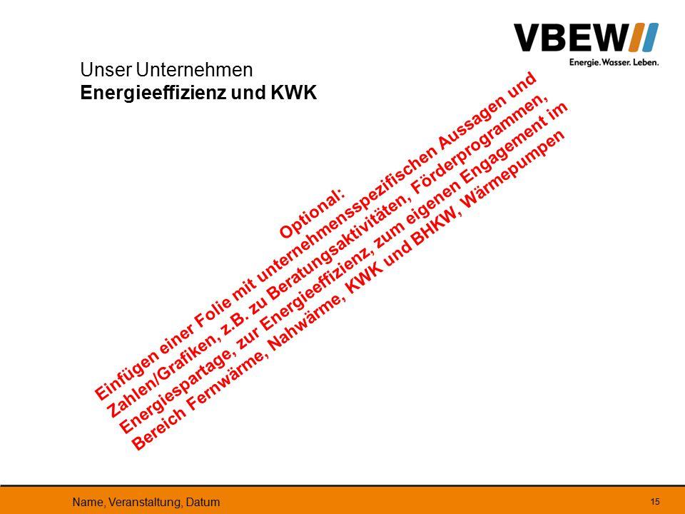 Unser Unternehmen Energieeffizienz und KWK