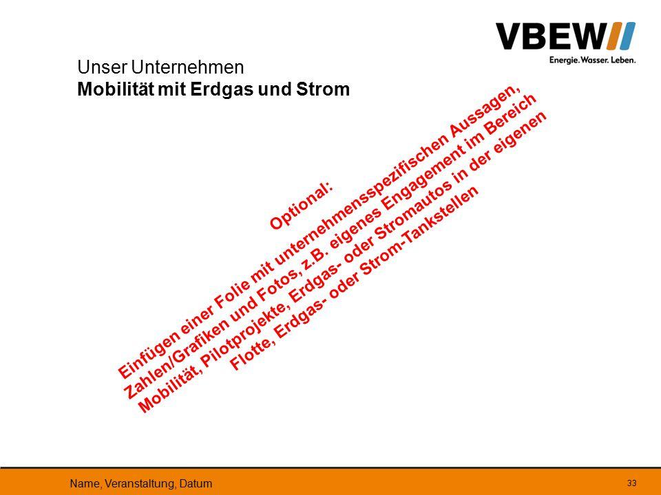 Unser Unternehmen Mobilität mit Erdgas und Strom